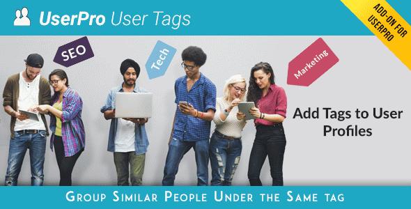 افزودنی برپچسب گذاری کاربرانTags add-on for UserPro