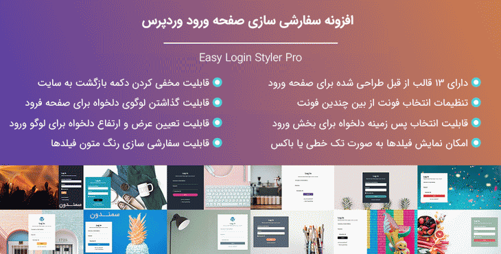 افزونه Easy Login Styler Pro