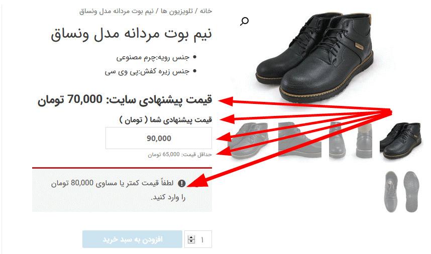 قابلیت دادن قیمت پیشنهادی توسط مشتری با افزونه WooCommerce Name Your Price