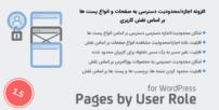 افزونه اجازه/محدودیت دسترسی به صفحات و انواع پست ها | Pages by User Role for WordPress