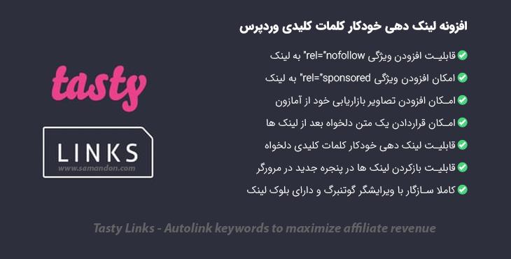 افزونه لینک دهی خودکار کلمات کلیدی وردپرس | Tasty Links
