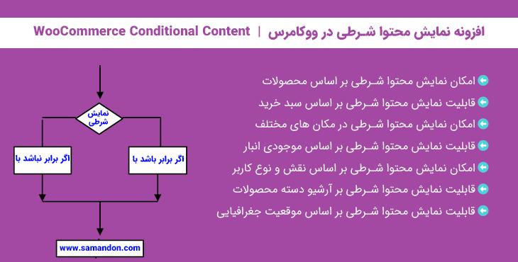 افزونه نمایش محتوا شرطی در ووکامرس   WooCommerce Conditional Content