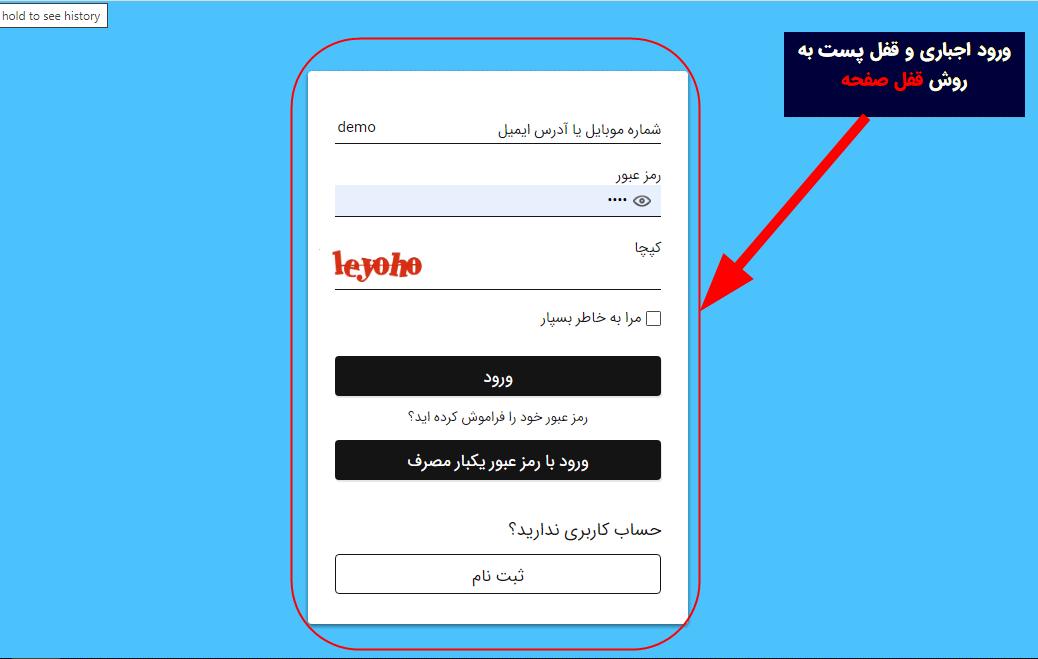 قفل به روش صفحه در پلاگین Forced Login Page Lock - Digits Addons
