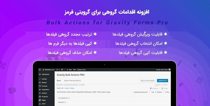 افزونه اقدامات گروهی برای گرویتی فرمز | Bulk Actions for Gravity Forms Pro