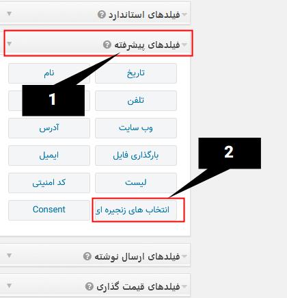 افزودن فیلد انتخاب به فرم های گرویتی فرمز با Gravity Forms Chained Selects Add-On
