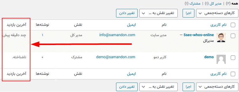 بهبود ماژول کاربران Admin توسط افزونه 5sec Who's Online