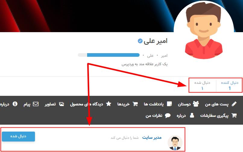 نمایش آمار دنبال کنندگان در پروفایل کاربران با Ultimate Member – Followers