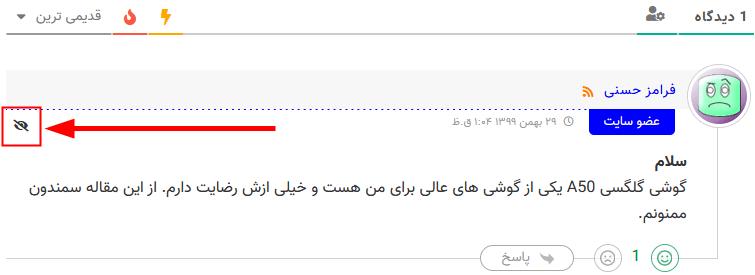 یک نظر خصوصی شده با wpDiscuz - Private Comments